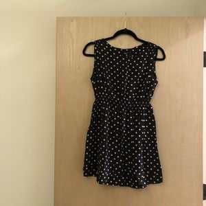 Ginatricot black and white polka dotted dress